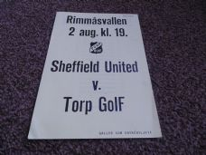 Torp GOIF v Sheffield United, 1984/85 [Fr]